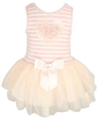 Popatu Rosette Heart Stripe Tutu Dress