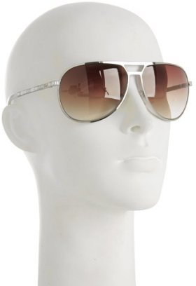 Christian Dior silver 'Christa' faceted detail aviators