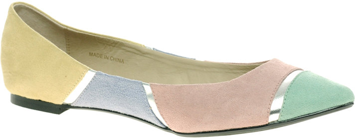 Asos LULA Ballet Flats with Color Block