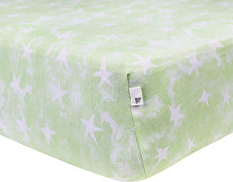 Burt's Bees Watercolor Star Fitted Crib Sheet