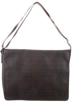 Burberry Smoke Check Messenger Bag