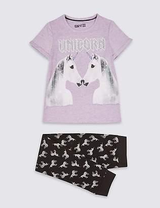 Marks and Spencer Glitter Unicorn Pyjamas (3-16 Years)