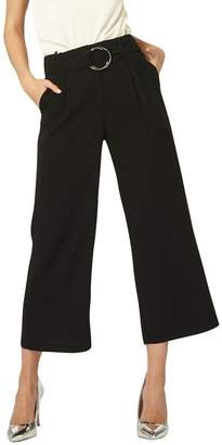 Dorothy Perkins Tall Black Ring Cropped Trousers