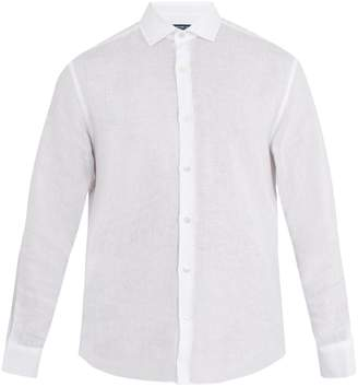 FRESCOBOL CARIOCA Point-collar linen shirt