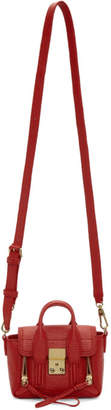 3.1 Phillip Lim Red Nano Shark Pashli Satchel