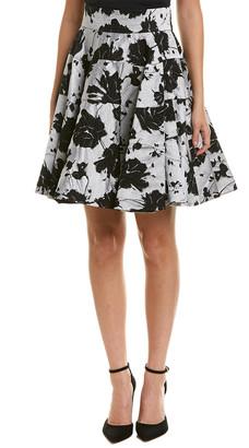 Monique Lhuillier Silk Skirt