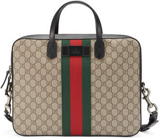 Gucci Web GG Supreme briefcase