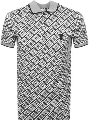 Versace Patterned Polo T Shirt Grey