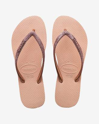 Express Havaianas Slim Glitter Flip-Flops