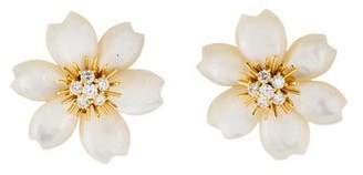 Van Cleef & Arpels Rose de Noël Earrings