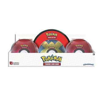 Pokemon Trading Card Game Pokeball Tin with 3 Packs and 1 Coin