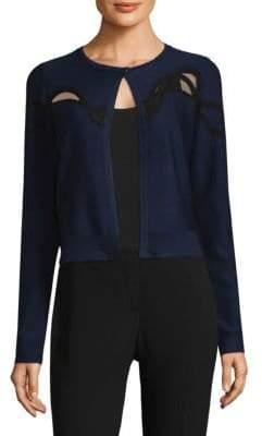 Elie Tahari Velvet Long-Sleeve Cardigan