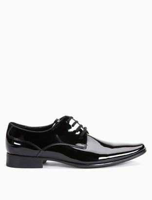 Calvin Klein brodie patent dress shoe