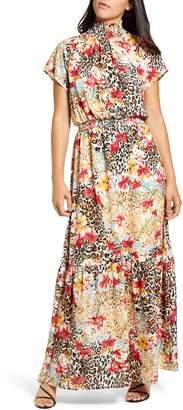 Gibson x City Safari Jaime Shrayber Smocked Maxi Dress