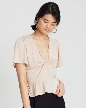 Miss Selfridge Twist Angel Short Sleeve Top