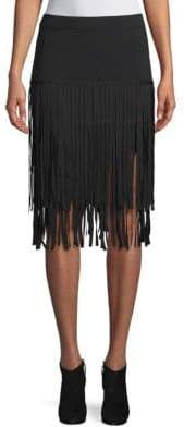 Endless Rose Knit Fringe Skirt