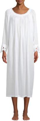 Celestine Princesa Floral-Applique Long-Sleeve Nightgown