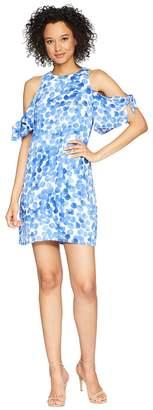 London Times Point Dot Bubble Crepe Shift Women's Dress