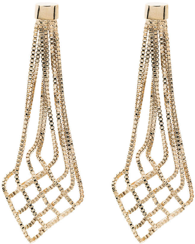 Aquilone drop chain earrings