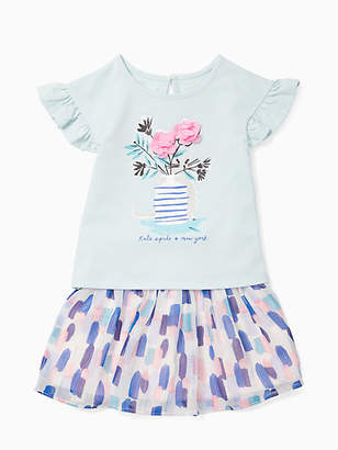 Kate Spade Infant flower cat skirt set