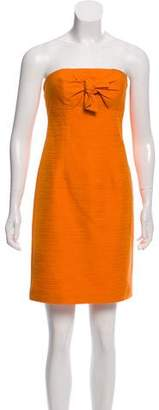 Trina Turk Textured Strapless Dress