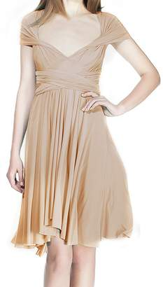 IBTOM CASTLE Women Transformer Wrap Short Convertible High Elasticity Homecoming Dresses XS