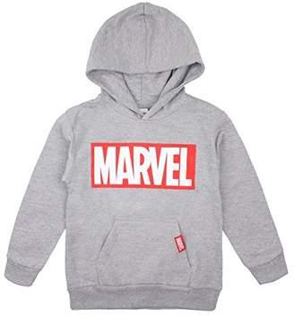 Marvel Boy's Logo Hoodie, Sports Grey SPO