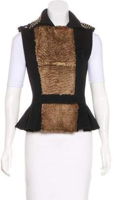 Thomas Wylde Faux-Fur Studded Vest