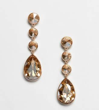 Aldo teardrop glass stone earrings