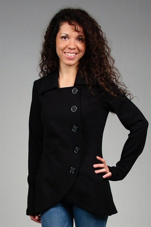 Bailey 44 Osculating Curve Jacket in Black