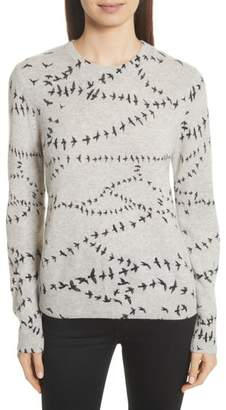 Equipment Shane Bird Print Cashmere Sweater