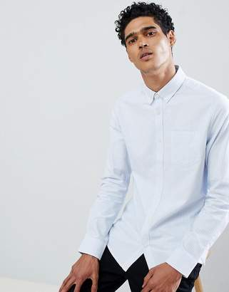 ONLY & SONS Regular Fit Pinstripe Oxford Shirt