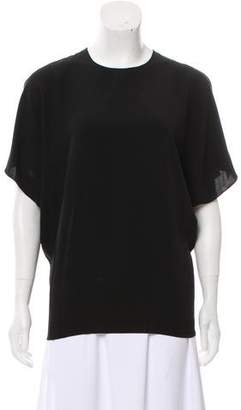 Saint Laurent Short Sleeve Cold-Shoulder Top