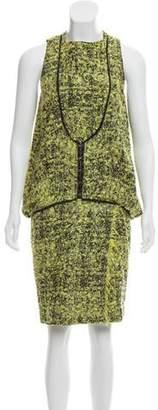 Proenza Schouler Textured Sleeveless Knee-Length Dress