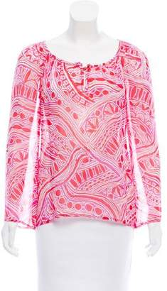 Trina Turk Long Sleeve Printed Top