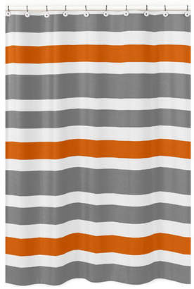 JoJo Designs Sweet Stripe Brushed Microfiber Shower Curtain