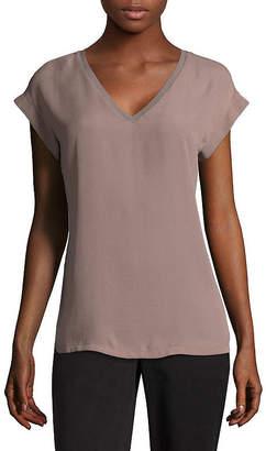WORTHINGTON Worthington Short Sleeve V-neck Tee - Tall