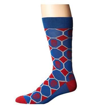 Cufflinks Inc. Spiderman Blue Checker Socks