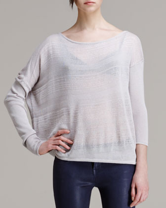 Helmut Lang HELMUT Slouchy Striped Knit Pullover