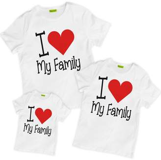 picontshirt Matching Family I Love My Family T-Shirts
