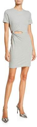 Alexander Wang Compact Jersey Twisted Cutout Tee Dress
