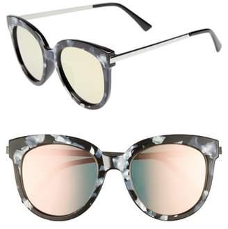 Leith 50mm Flat Cat Eye Sunglasses