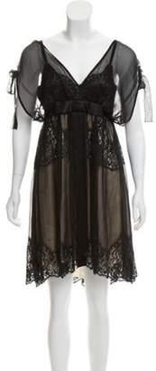 Dolce & Gabbana Sleeveless Knee-Length Dress Black Sleeveless Knee-Length Dress