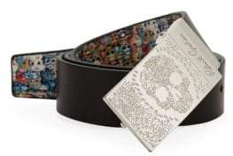 Robert Graham Marsh Reversible Skull Print Belt