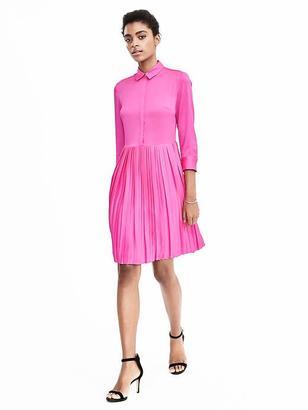 Pleat-Skirt Shirtdress $118 thestylecure.com
