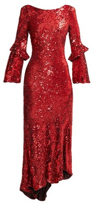 Maria Lucia Hohan Polina Asymmetric Sequinned Dress - Womens - Red