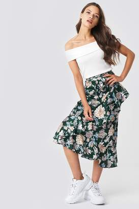 Rut & Circle Rut&Circle Isa Flower Frill Skirt Green Flower