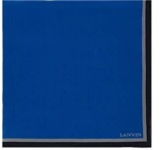 Lanvin Men's Silk Crepe Pocket Square