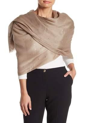 Portolano Linen & Silk Blend Sequined Shawl