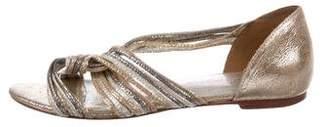 Loeffler Randall Metallic Leather d'Orsay Flats